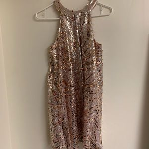 Champagne Sequin Cocktail Dress